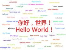 Bonjour monde Images libres de droits