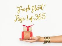 Bonjour 2017 nouvelles années de meilleur début frais Photo stock