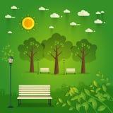 Bonjour parc Paysage naturel dans le style plat Un beau parc Photo libre de droits