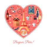 Bonjour, Paris Fond de voyage de Frances avec Photos libres de droits