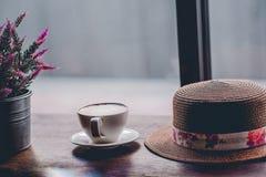 Bonjour pendant le matin avec du café aromatique d'amour du café I j'aime t Images libres de droits