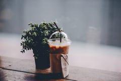 Bonjour pendant le matin avec du café aromatique d'amour du café I j'aime t Photo libre de droits