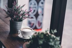 Bonjour pendant le matin avec du café aromatique d'amour du café I j'aime t Photos libres de droits