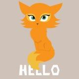 Bonjour, renard illustration stock