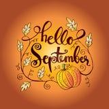 Bonjour septembre illustration de vecteur