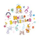 Bonjour septembre Photos libres de droits