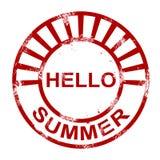 Bonjour timbre d'été Photographie stock libre de droits