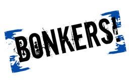 Bonkers sticker stamp Stock Photo