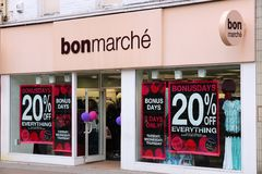 Bonmarche fashion Royalty Free Stock Photo