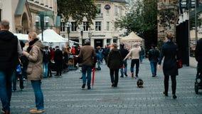 Bonn, Germany, 23 of October 2017: Flea Market In The Street In The Center Of Bonn.