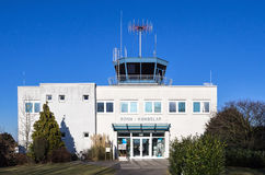 Bonn/Hangelar. Airfield building on a sunny day royalty free stock image