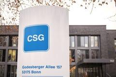 Csg sign in bonn germany. Bonn, North Rhine-Westphalia/germany - 28 11 18: csg sign in bonn germany royalty free stock photography
