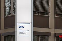 Dfg sign in bonn germany. Bonn, North Rhine-Westphalia/germany - 28 11 18: dfg sign in bonn germany royalty free stock image