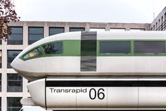 Bonn, North Rhine-Westphalia/germany - 28 11 18: transrapid 06 magnet train bonn germany. Bonn, North Rhine-Westphalia/germany - 28 11 18: an transrapid 06 royalty free stock photo