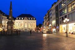 Bonn przy noc Obrazy Royalty Free