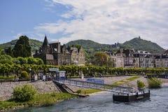 Bonn, riva della pioggia Fotografie Stock Libere da Diritti