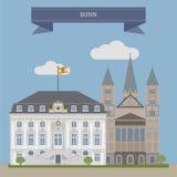 Bonn, Stadt in Deutschland lizenzfreie abbildung