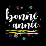 Bonne Année Fransk hälsning för lyckligt nytt år stock illustrationer