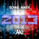 Bonne Annèe 2013 da le France. Happy new years eve with a multicolored background, bright text like little light ball and the colors of the French flag Royalty Free Stock Image
