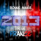 Bonne Annèe da 2013 le Frankrike Royaltyfri Bild