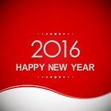 Bonne année 2016 à l'arrière-plan de modèle de vague Images libres de droits
