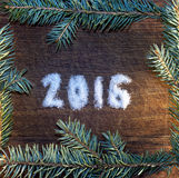 Bonne année 2016 écrite le sucre Image stock
