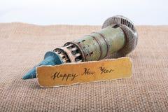 Bonne année écrite sur un papier déchiré Images stock