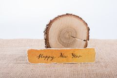 Bonne année écrite sur un papier déchiré Images libres de droits