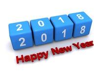 Bonne année 2018 illustration de vecteur