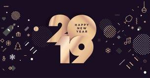 Bonne année 2019 illustration stock