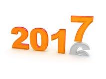 Bonne année 2017 Photo libre de droits