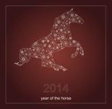 Bonne année 2014. Année du cheval. Vecteur Image libre de droits