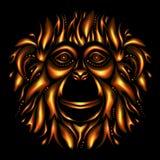 Bonne année 2016 Année du singe illustration libre de droits
