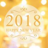 Bonne année 2018 ans sur le beau fond m de achat de tache floue Photo stock