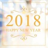 Bonne année 2018 ans sur le beau fond m de achat de tache floue Photo libre de droits