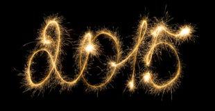 Bonne année - 2015 avec des cierges magiques Photos stock