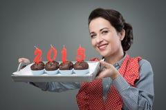 Bonne année 2015 avec des petits pains Photos stock