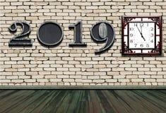 Bonne année 2019 avec la nouvelle synchronisation dans la vie images stock