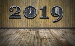 Bonne année 2019 avec la nouvelle synchronisation dans la vie photo stock