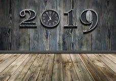 Bonne année 2019 avec la nouvelle synchronisation dans la vie photo libre de droits