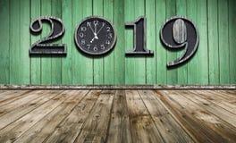 Bonne année 2019 avec la nouvelle synchronisation dans la vie image stock