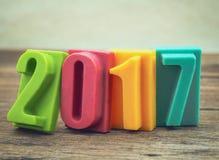Bonne année 2017, barre du nombre de chocolat Images libres de droits