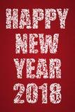 Bonne année 2018 Carte de voeux ou affiche Texte fait d'éléments floraux Image libre de droits