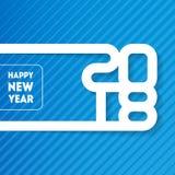 Bonne année 2018 Carte de voeux de vecteur avec découper l'art crique Photo stock