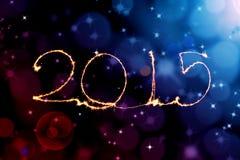 Bonne année - cierge magique 2015 Photographie stock