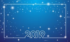 Bonne année colorée 2019 illustration de vecteur