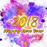 Bonne année colorée 2018/de fond Image stock