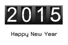 Bonne année 2015, compte à rebours numérique de nombre Photographie stock libre de droits