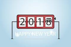 BONNE ANNÉE 2018, concept d'horloge de secousse Photographie stock libre de droits
