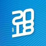 Bonne année 2018 Couverture de journal intime d'affaires pour 2018 Br de vecteur Images stock